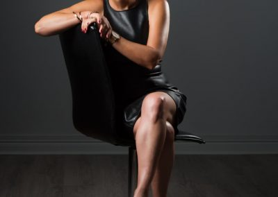 Desley sitting crossed legs