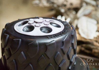 tyre wedding cake