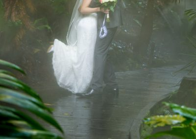 Bride kicking up heels